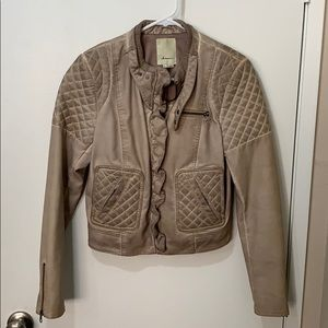 Anthropologie Elevenses Vegan Leather Jacket